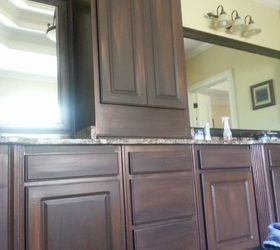 Superior How To Paint Faux Wood Cabinets Part - 11: White Cabinets Painted To Look Like Wood, Bathroom Ideas, Kitchen Cabinets,  Painting