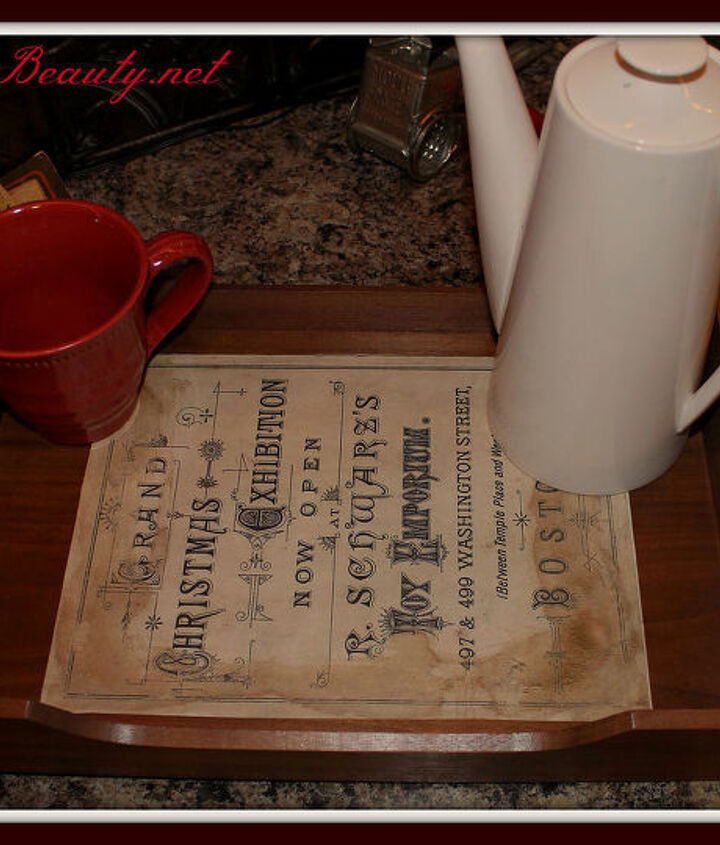 come check out my new vintage christmas serving tray, home decor, painted furniture