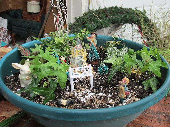 first fairy garden, gardening