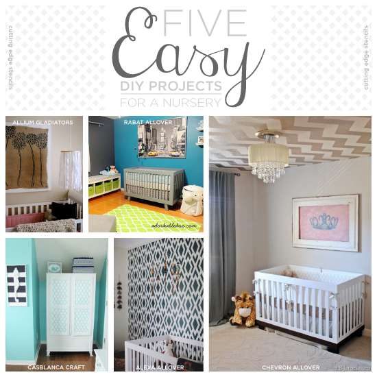 five easy diy projects for a nursery, bedroom ideas, home decor, painted furniture, wall decor