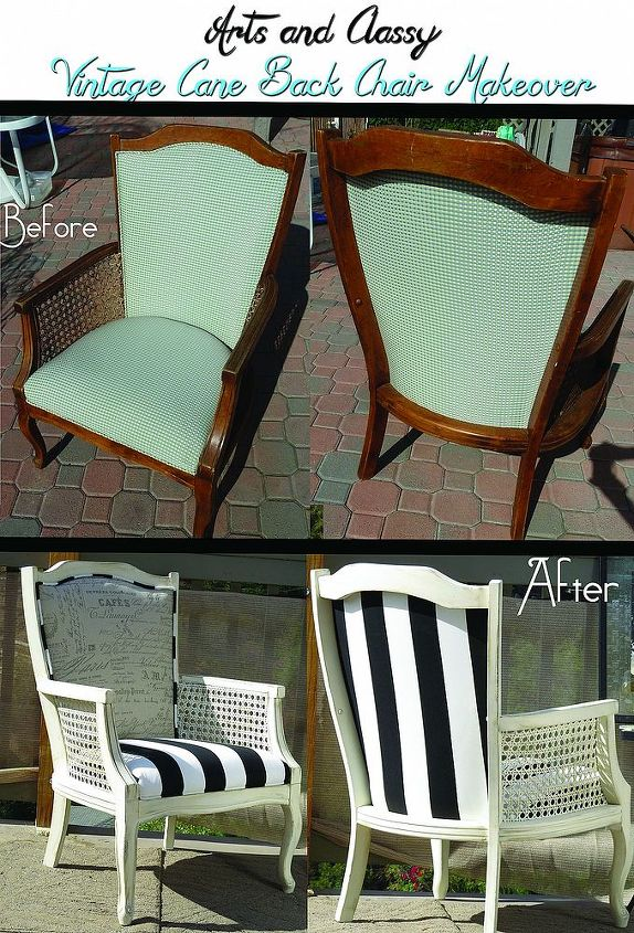 cane back chair diy tutorial from drab to fab in 10 steps, painted furniture
