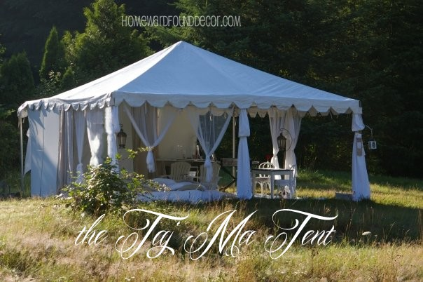 the 20X20 party tent. http://homewardfounddecor.blogspot.com/2013/06/glamping-with-style.html