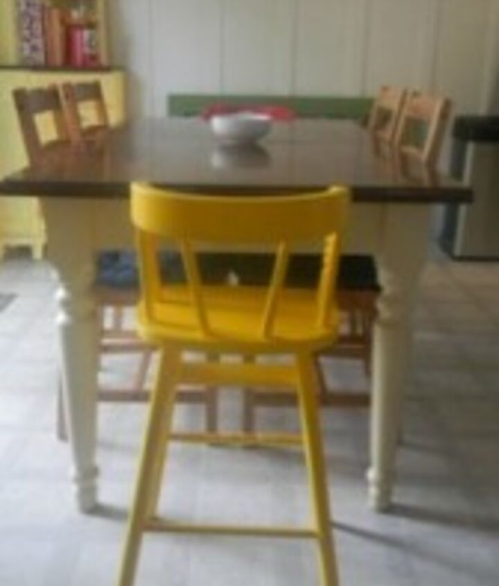 toddler chair makeover, painted furniture