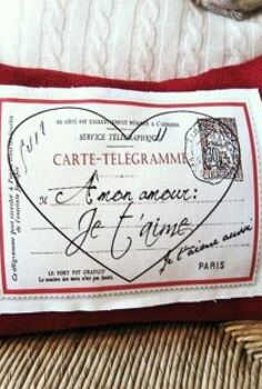 pottery barn inspired french valentine pillow with free graphic, crafts, seasonal holiday decor, valentines day ideas