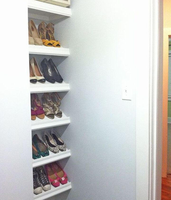 designer shoe shelves on a budget, cleaning tips, closet, diy, how to, shelving ideas, woodworking projects