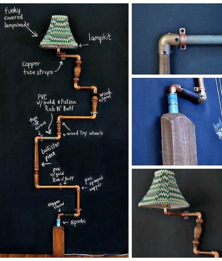 diy industrial pipe lamp, diy, how to, lighting, repurposing upcycling