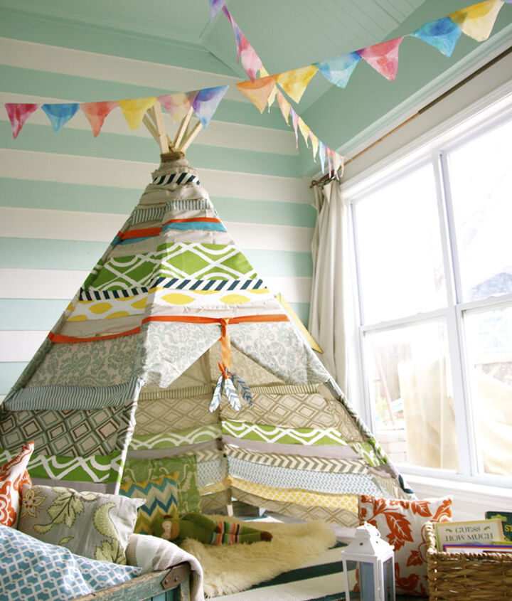 handmade no sew tee pee, outdoor living