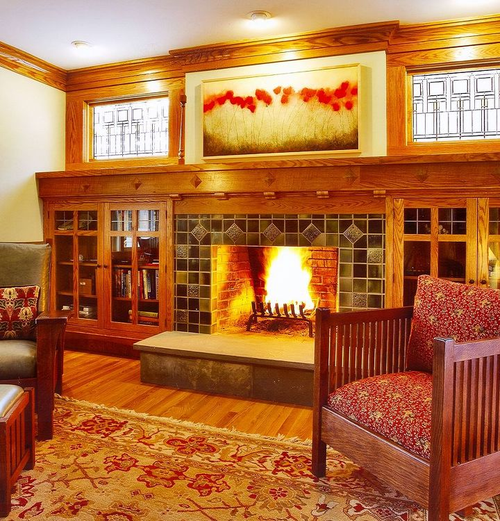 Family Room Renovation - Interior of split-level remodel by Titus Built, LLC