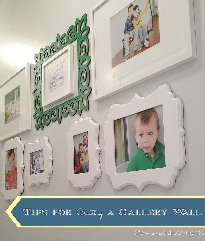 create a gallery wall, crafts, home decor, wall decor