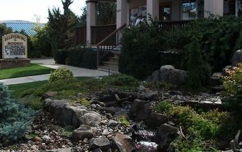 ellensburg chamber of commerce pond less waterfall before and after photos, landscape, outdoor living, ponds water features, August 2012 from the North