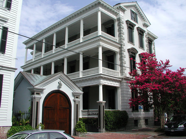 This early 1800s Greek Revival Mansion in Charleston, S.C., was remodeled by Classic Remodeling & Construction. See more project images at http://www.daily5remodel.com/index.php?action=article&rowid=892