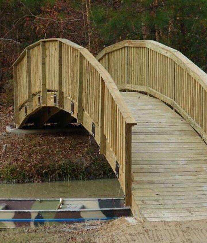 Finished bridge prior to staining