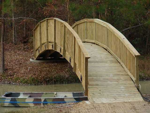 Finished bridge prior to staining