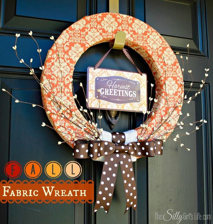 Fall Wreath from: http://thissillygirlslife.com/2013/09/fall-fabric-wreath/