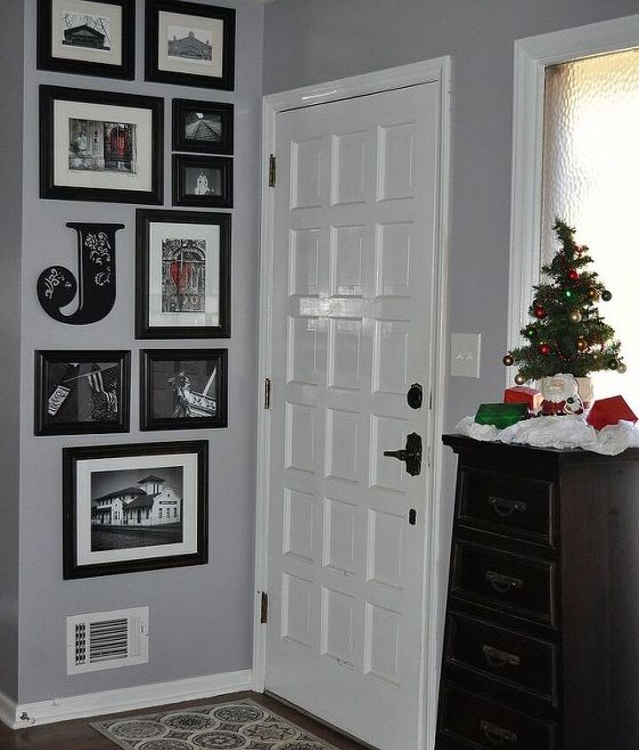 """Updated with new wall color .... """"Sparrow"""" by Behr from Home Depot"""