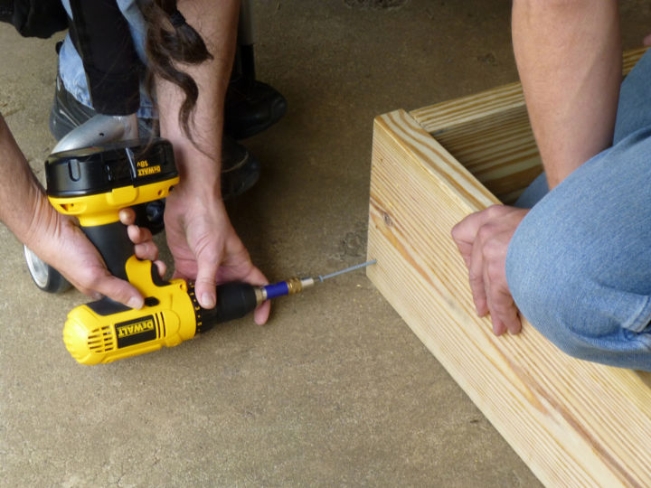 building our first sfg square foot garden, diy, flowers, gardening, how to, raised garden beds, woodworking projects