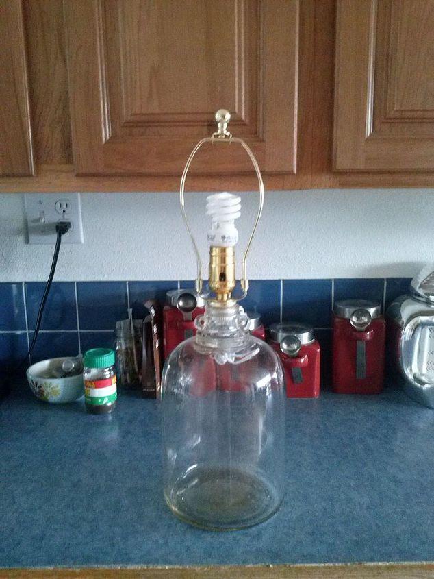 q antique glass milk jug lamp, lighting