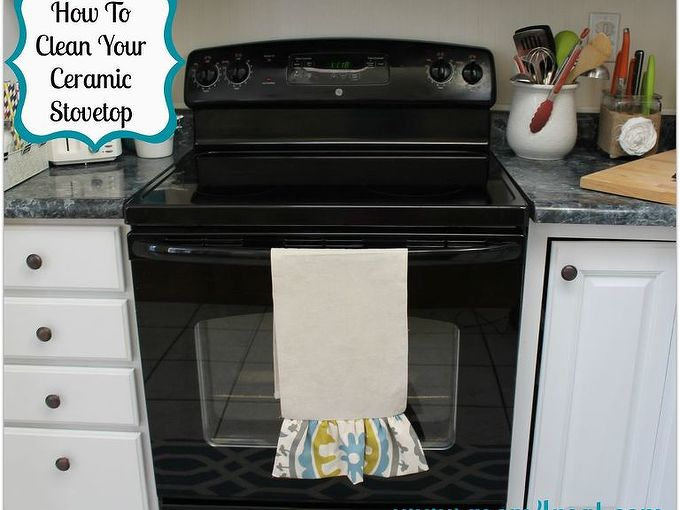 how to clean your ceramic stovetop, appliances, cleaning tips, Super clean stovetop