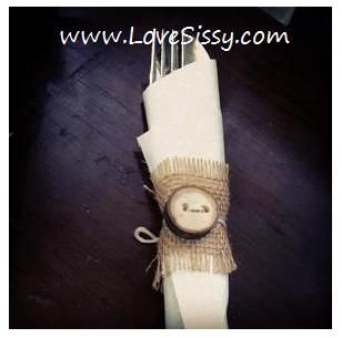 rustic napkin rings burlap amp tree branches, crafts