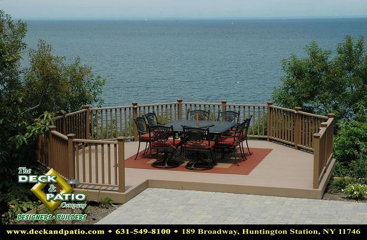 Trex accents saddle decking overlooking Long Island Sound