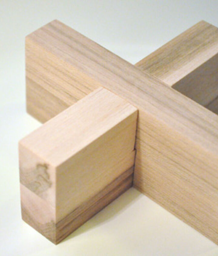 Here's how the puzzle looks completely assembled. Can you get the two sections apart?