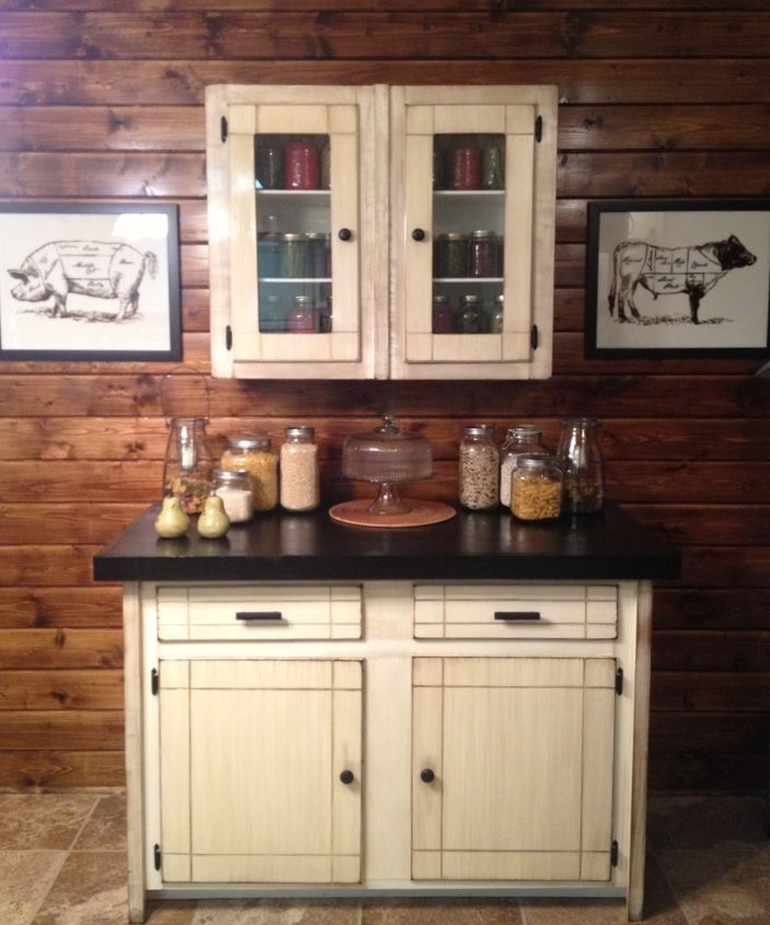 Redone Kitchen Cabinets: Old Garage Cabinet Redo For Less Than $30