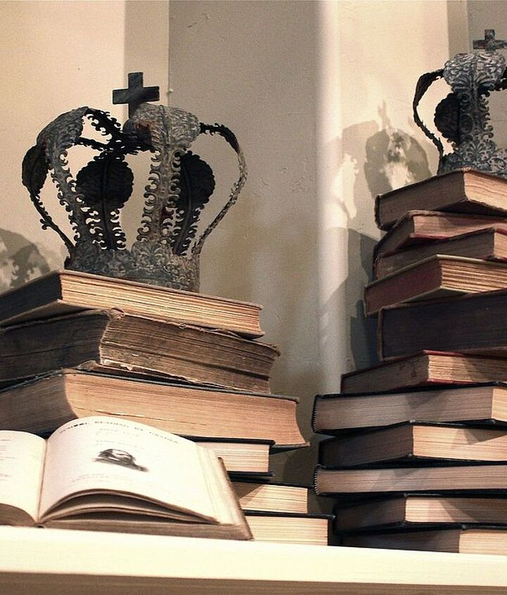 books books and more books stacked book mantle design, home decor