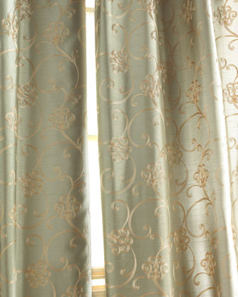 need opinions on curtain choices, home decor, shabby chic, One of my choices which the color is described as Celadon