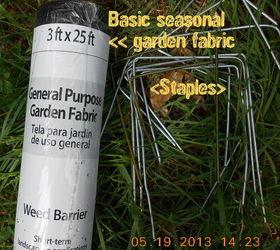 ... Using Wire Coat Hangers To Hold Down Garden Fabric Gardening  Repurposing Upcycling Richloom Studio Multi Purpose ...