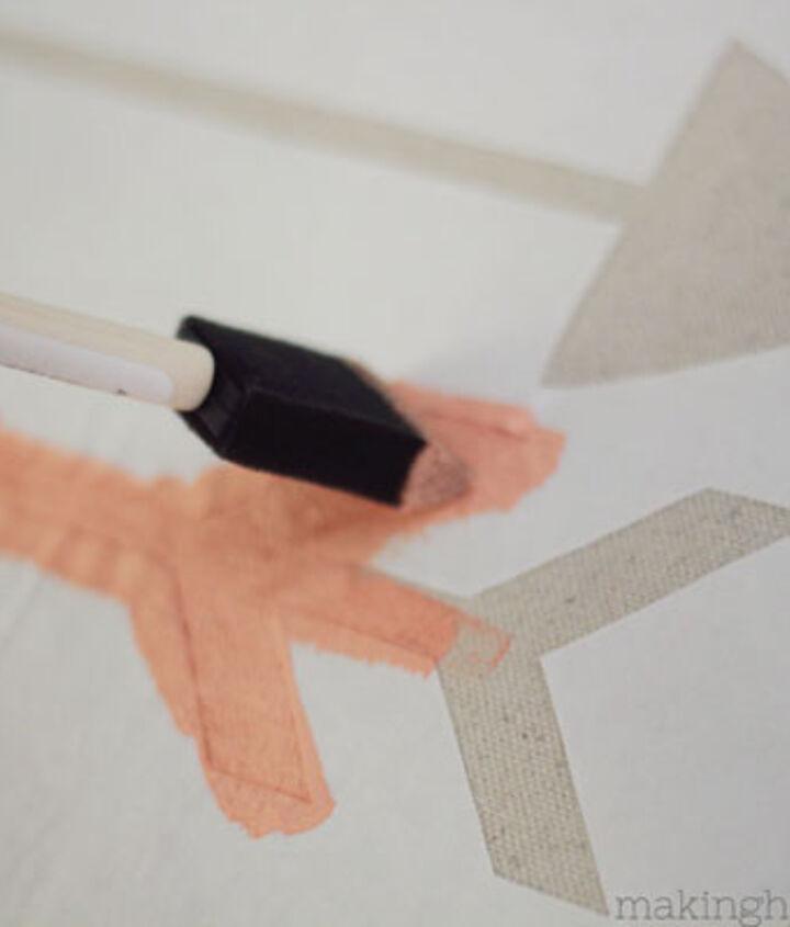 diy stenciled arrow pillow, crafts