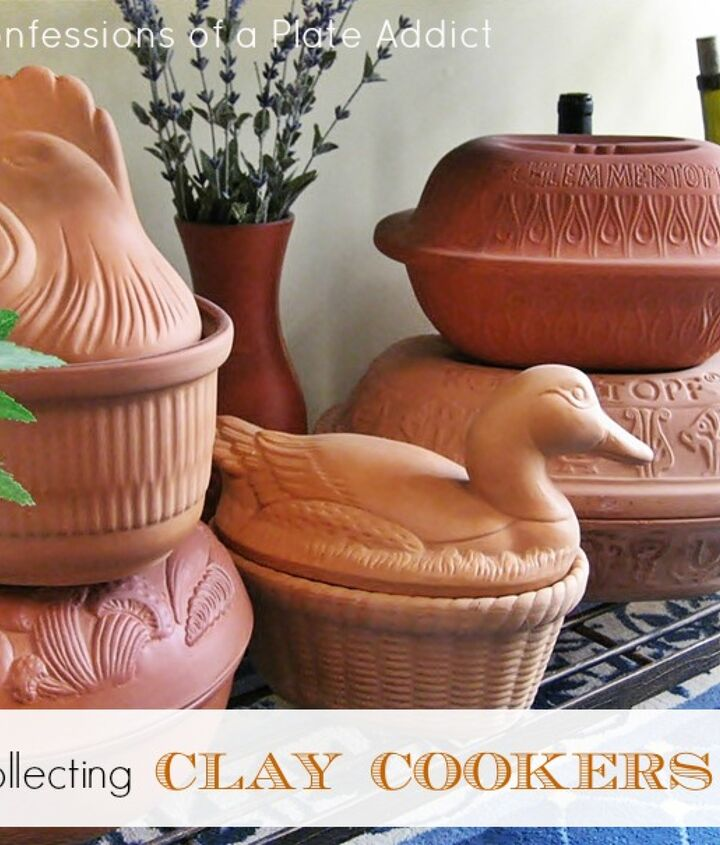 Love the texture and whimsy of clay cookers!