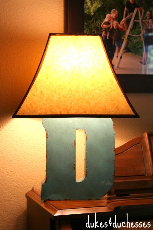 a diy monogram lamp, crafts, lighting, repurposing upcycling