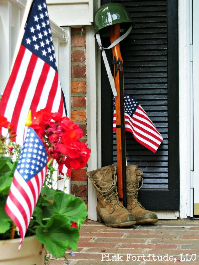 patriotic decorations, outdoor living, patriotic decor ideas, seasonal holiday decor