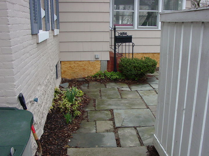 Before Landscaping and Patio Fix Brighton, NY by Acorn of Rochester NY