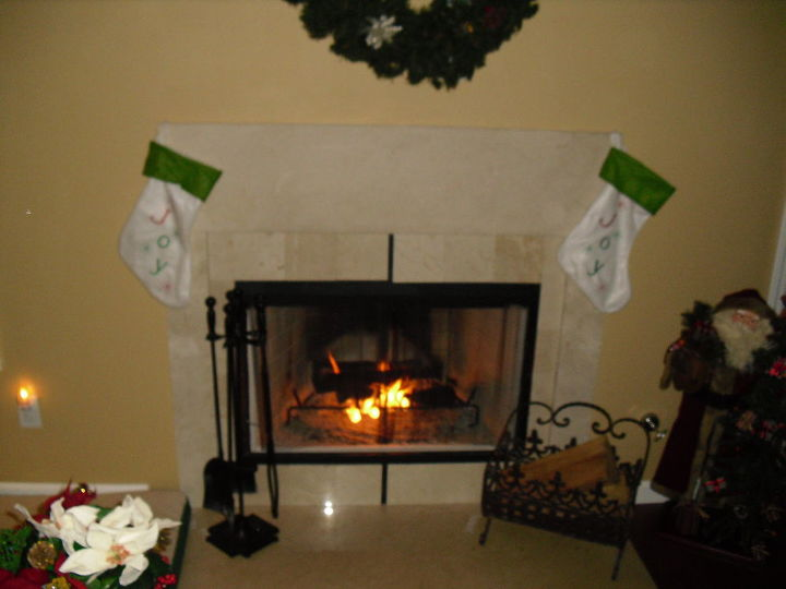 Fireplace needs help.