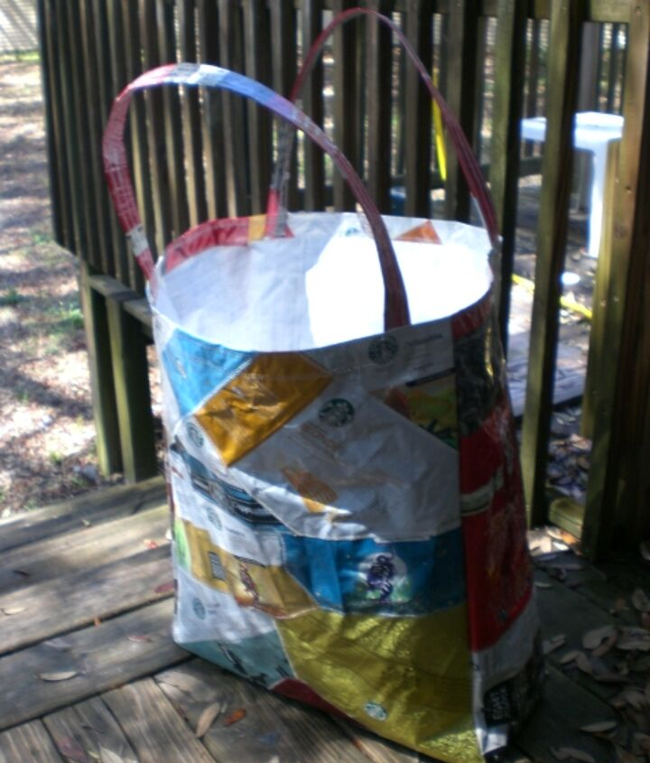 custom tote made for customer to carry her snorkel gear, crafts, repurposing upcycling
