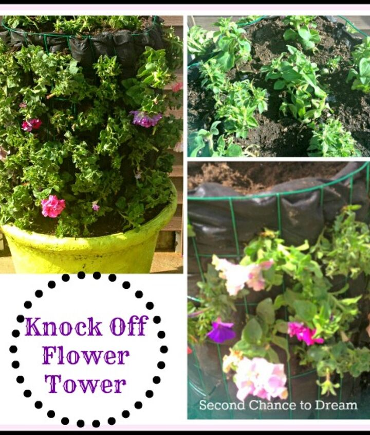 Complete tutorial on how to make a flower tower.