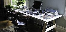 door trestle desk two ways, repurposing upcycling