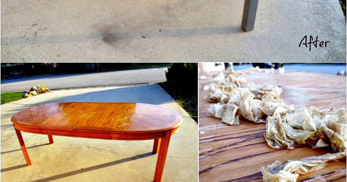 Refinished Table Painted Base Laminate Surface Hometalk