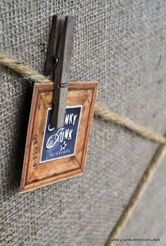a cool cheater bulletin board build for non builders, crafts, shelving ideas, woodworking projects, Both clothespins and pushpins can be used for this board Tip weather your clothespins by leaving them outside for a while