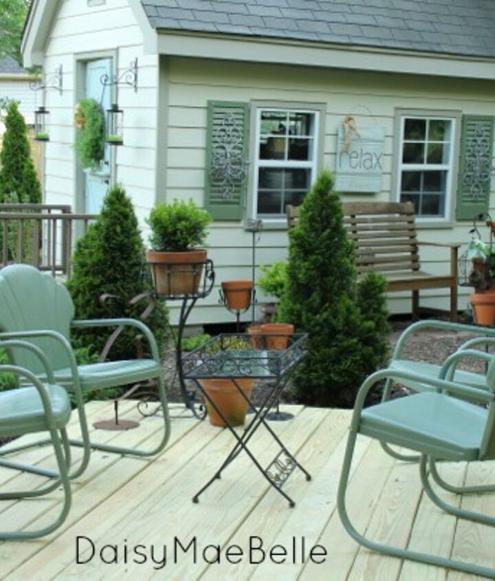 Now we can enjoy these chairs on our new deck.