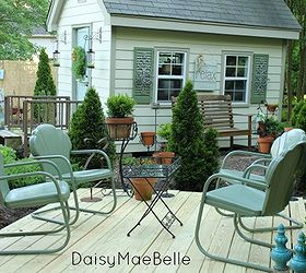 How To Paint Vintage Metal Chairs, Outdoor Furniture, Outdoor Living,  Painted Furniture,