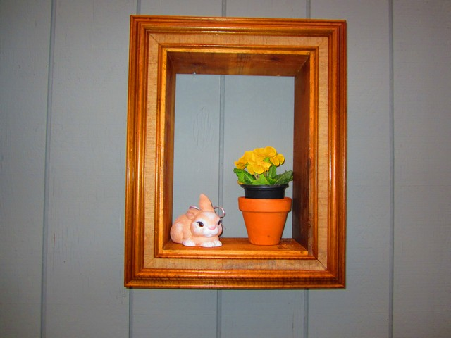 Old picture frames made into wall plant hangers | Hometalk