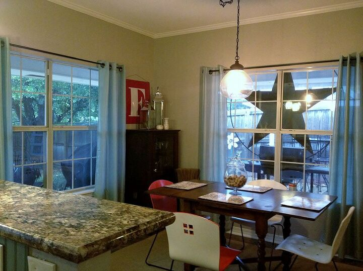 After-Our awesome dining room; decor is still a work in progress