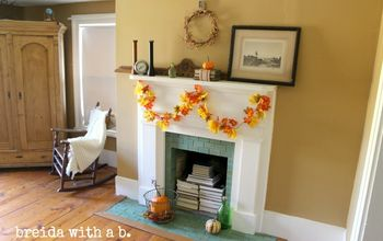 Long Overdue Fall Mantle Makeover