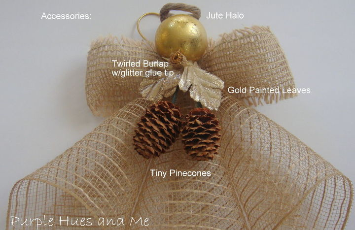 mesh ribbon angel, crafts, seasonal holiday decor, wreaths, Decorate your angel with embellishments or accessories to compliment any d cor This color reminds me of sheer burlap for a rustic elegant feel