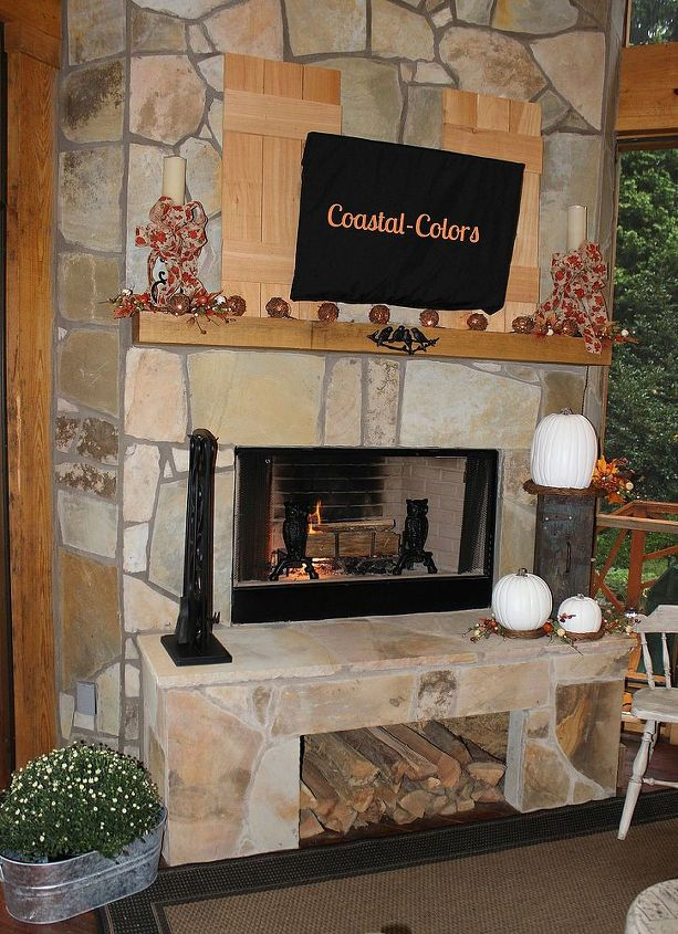 The fireplace is perfect for the cooler crisp nights of Fall.