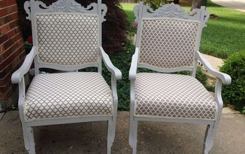 antique chairs revived this project was more than i expected, chalk paint, painted furniture, repurposing upcycling, AFTER
