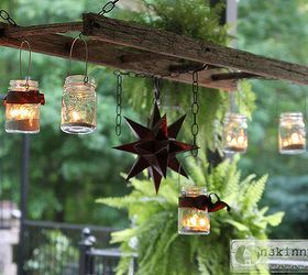 How To Create A Mason Jar Patio Chandelier, Mason Jars, Outdoor Living,  Patio