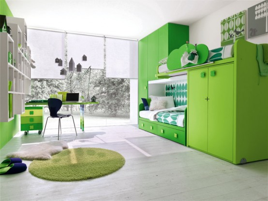 best room design ideas for kids and teens, bedroom ideas, home decor, Green Kid bedroom